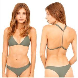 Issa de Mar Poema Olive Rib T Back Bikini Top M